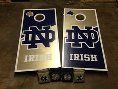 notre dame cornhole boards - Google Search