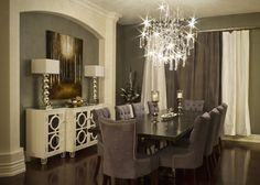 modern dining room by Beyond The Stage Homes. Fancy