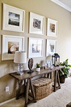 Large 6 matching prints on hallway or bedroom/living area walls