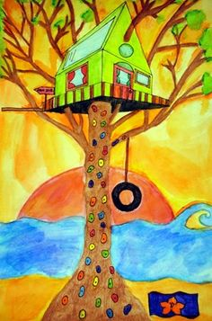 2-Point Linear Perspective Treehouse