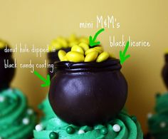 Pot of Gold Cupcakes!!  Surprisingly easy.