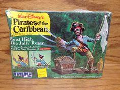 1972 MPC Walt Disney's PIRATES of the CARIBBEAN Model Kit **Factory Sealed Box #MPC