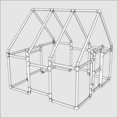 FORMUFIT - Large PVC Playhouse FITkit, $92.00 (http://www.formufit.com/large-pvc-playhouse-fitkit/)