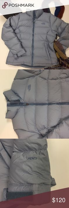 The North Face Nuptuse 2 Packable Down Coat The North Face Nuptuse 2 Jacket in a beautiful cornflower blue color size Extra Large. Zips ip front, zip close side pockets, draw cord at waist, logo at chest and shoulder in matching stitch. In excellent condition. $220 retail. The North Face Jackets & Coats Puffers