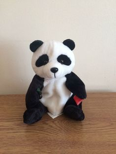 Beanie Panda Bear Bean Bag Coca Cola 1999 Soft Toy Collectable