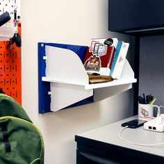 """The """"Fun Size"""" Wall Control Pegboard! - The metal panel, perfect for small spaces for in need of organization and storage. Organize anything from your office, to your garage, or even your office space!"""