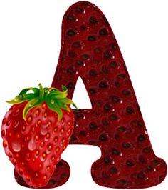 Apetecible alfabeto de Fresas.