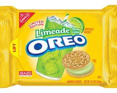 Oreos Get Fruitier With New Limeade Flavor  I just know the Pinterest People are going to get VERY creative with this!
