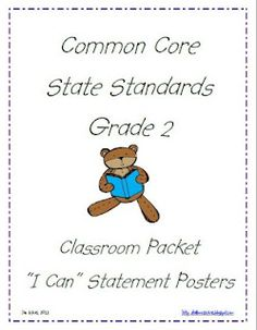 """Giveaway!  CCSS """"I can"""" posters for 2nd grade."""