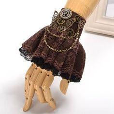 Butterfly Lace Cuff Steampunk Wristband