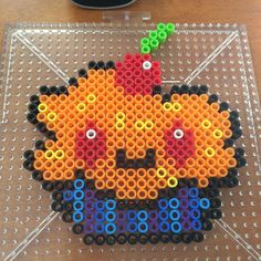 Kawaii cupcake perler beads by foreverkateri