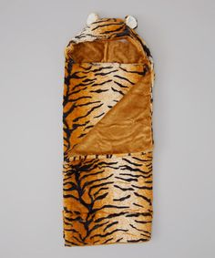 Look at this #zulilyfind! Orange Tiger Hooded Blanket by Pickles #zulilyfinds