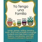 This is a sample of the complete activity set about family members in Spanish.  ...