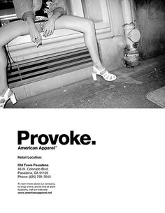 American Apparel Ad Campaign by Nathan Sebakijje, via Behance