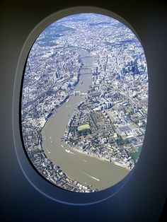 "That moment when you see London while sitting in your window seat.. only ""tour"" i had XD..."