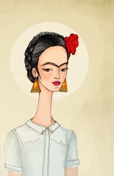 Frida Art Print by Renia