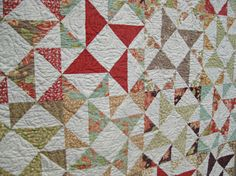 quilting detail - Material Girl Quilts, Moda fabric - Tapestry by Fig Tree & Co