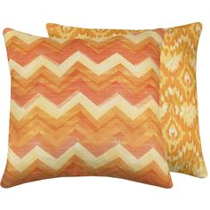 Orange Chevron Ikat Pillow Cover 20x20 Double Sided Decorative Throw Cushion Cover, Rainbow Sherbet Collection. $32.50, via Etsy.