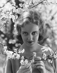 An ethereal shot of very young Bette Davis:
