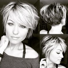 Let your hair be messy and your life be meaningful! 💋 Let your hair be messy and your life be meaningful! Cute Hairstyles For Short Hair, Pretty Hairstyles, Curly Hair Styles, Messy Short Hair, Layered Hairstyles, School Hairstyles, Trending Hairstyles, Short Hair With Layers, Short Hair Cuts For Women