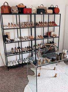 A Peek Into the Fashion Jackson Office Home Office Closet, Home Office Decor, Home Decor, Fashion Room, Office Fashion, Fashion Outfits, Handbag Display, Gold Bedroom Decor, Life Kitchen