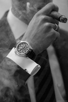 #ambroke #cigar #lavish #lifestyle #accessory #accessories #men #man #gentleman #suit #rich #wealth #blackandwhite #hd #quality #picture #photo #smoke #goals #wristwatch #luxury