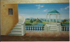 Wandmalerei-Mural Wall Murals, Creations, Landscape, Painting, Interior Walls, Wall Art, Murals, Paint, Mural Painting
