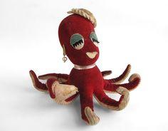 A vintage Dakin Dream Pet octopus.
