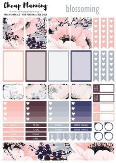 #FreebieFriday – Free Printable Blossoming Planner Stickers