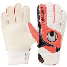 Damroobox Original Sports Products • The Uhlsport Fangmaschine Starter Soft Goalkeeper Glove feature a flat palm cut which results in this glove style typically fitting looser than many other styles and the glove fingers can twist during catching.