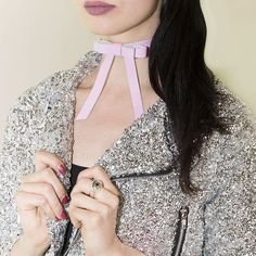 Bowie Choker  In Pink Valfre.com #valfre