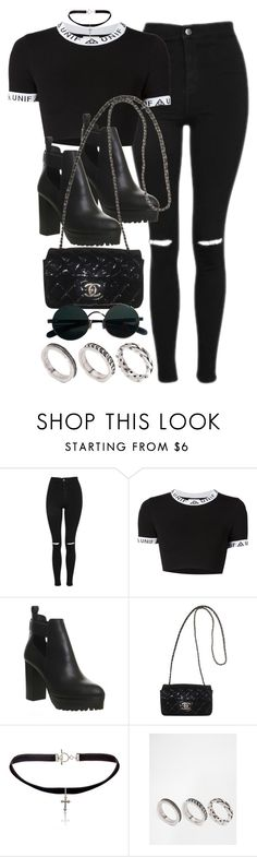 """Style #11067"" by vany-alvarado ❤ liked on Polyvore featuring Topshop, UNIF, Office, Chanel, Yves Saint Laurent and ASOS"