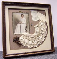 Vintage shadow box More