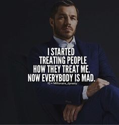 Treat people how you want to be treated. And you'll see nothing but the truth.  _____________________________________  Follow us:  @millionaire_dynasty  @millionaire_dynasty