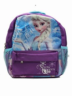 Small Size Purple and Blue Queen Elsa Disney Frozen Kids Backpack *** You can find more details by visiting the image link.