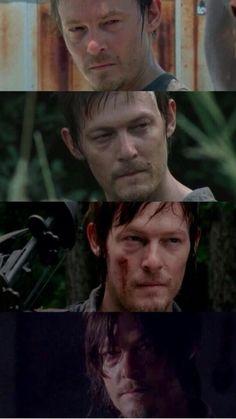 Daryl Dixon seasons 1-4. He always looks sleepy and I think it's sweet. <3