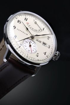 Graf Zeppelin LZ129 Hindenburg Automatic Watch with Power Reserve and 24hr Subdial 7060-4