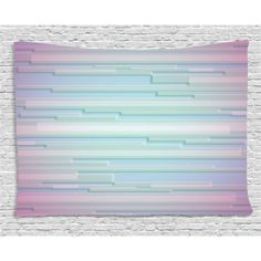 Modern Decor Tapestry, Fractal Abstract Minimalist Digital Futuristic Style Pattern Computer Art , Wall Hanging for Bedroom Living Room Dorm Decor, 80W X 60L Inches, Lilac Blue, by Ambesonne #minimalistdecor