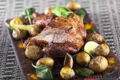 Receita de Perna de peru assada no forno. Descubra como cozinhar Perna de peru assada no forno de maneira prática e deliciosa com a Teleculinária!