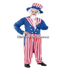 Tu mejor disfraz del tio sam adulto para hombre.Con este disfraz con rayas rojas y blanca, chaqueta azul, no pasarás desapercibido en Fiestas de Disfraces, Carnavales o en Celebraciones Temáticas.