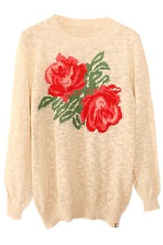 Two Roses Knitted Jumper