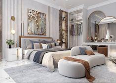 Modern Luxury Bedroom, Luxury Bedroom Design, Master Bedroom Interior, Room Design Bedroom, Room Ideas Bedroom, Home Room Design, Luxurious Bedrooms, Home Decor Bedroom, Home Interior Design