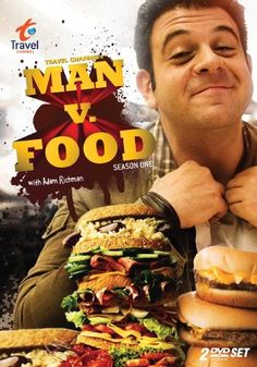 I love this guy!! Adam Richman is a maniac!!!! How he isn't 500 lbs. from eating all of that food is beyond me. I just look at all of the food he eats and I put on the pounds!!! LOL
