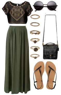 I enjoy wearing the olive color of this maxi skirt. Have always kept a top this color. This skirt has great body. I'd want a maxi that can be worn in any season.