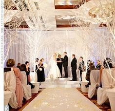 Beautiful winter wedding decorations