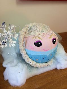 frozens elsa pumpkin - Frozen Halloween Decorations