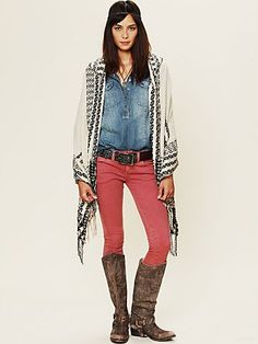 Free People Hooded Poncho & outfit