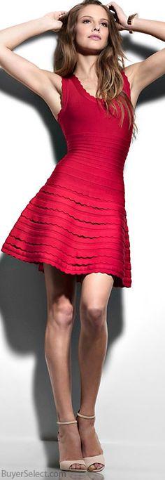 Herve Leger Exclusive Scalloped Racer Back Bandage Dress #designer #dresses #fashion