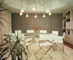 1970s dining room (photo from Casa Abril archives)