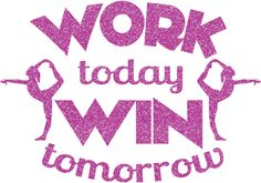 Work Today Gymnastics Iron On Decal by GirlsLoveGlitter on Etsy